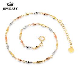 2019 bracelet jaune solide Fille Or Pur 18k Bracelet Solide Au750 Carambole Bracelet Blanc Rose Jaune Parti À La Mode Femmes Cadeau Bon Belle Vente Chaude Remise Y19052301 promotion bracelet jaune solide