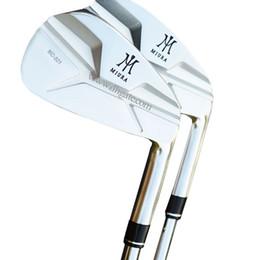 Set di golf di grafite online-Nuovi ferri da golf da uomo MIURA MC-501 ferri da stiro 4-9P Ferri da golf Club Stee shaft o Graphite R o S Golf shaft Spedizione gratuita