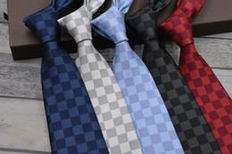 Gravata de seda de alta qualidade on-line-Nova moda gravata dos homens de alta qualidade 100% gravata de seda 8 cm jacquard padrão dos homens gravata