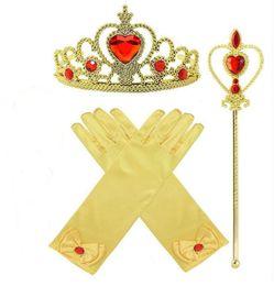 Palo de vestir online-2019 nuevas muchachas de la princesa de la tiara diadema Hada varitas Sticks niños vestido de los niños hasta los apoyos de los guantes de Navidad de los niños Princess Dress Up Party