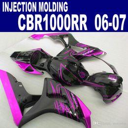 Plásticos para motos on-line-Kit de compensação de plástico ABS para HONDA Modelo de injeção CBR1000RR 06 07 motobike vermelho preto CBR 1000 RR 2006 2007 carenagens CP16