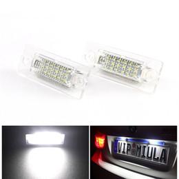 Volkswagen skoda on-line-2 pçs / lote 18 LED luz da placa de licença para volkswagen vw skoda transporter passat golf touran branco 6000 k decodificação unidade luz da cauda haha92