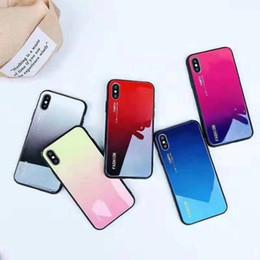 couverture latérale pour iphone Promotion Étui rigide en verre trempé de qualité supérieure pour Iphone XR XS MAX X 10 8 7 Plus 6 6S TPU côté double couleur hybride Bicolor Fashion Cover