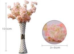 Argentina 1 metro de largo artificial simulación flor de cerezo ramo de flores boda arco decoración guirnalda decoración para el envío gratis Suministro
