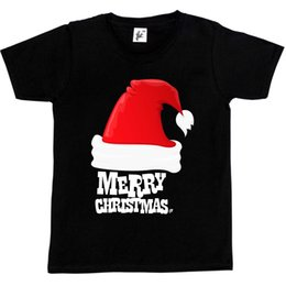 Boules rouges gros garçon en Ligne-Grand bonnet rouge avec boule au bout joyeux Noël enfants t-shirts style t-shirt style rond t-shirts t-shirts jersey personnalisé