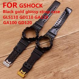 2019 sangle de résine Accessoires de montre pour bracelet en résine GSHOCK GLS GD GA110 GA100 GD120 Male Black Gold promotion sangle de résine