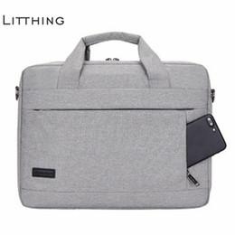 Laptop 14 pollici pc online-Litthing grande capacità borsa del computer portatile per le donne degli uomini valigetta da viaggio bussiness borsa per notebook per 14 15 pollici Macbook Pro Pc J190721