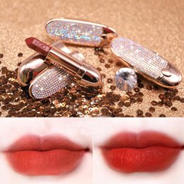 frosted lipsticks Promo Codes - 2019 NEW High quality matte Lipstick Makeup Luster Retro Lipsticks Frost Sexy Matte Lipsticks 8 colors gem Starry sky lipsticks