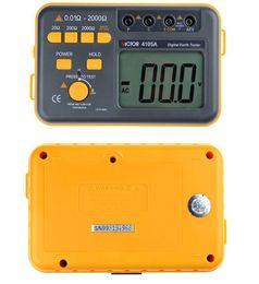 Elektronik Toprak Direnç Ölçer Profesyonel Dijital Toprak Direnç Toprak Direnci Toprak AC Gerilim Test Cihazı VC4105A 0.01-2000 ohm nereden toprak test cihazı dijital tedarikçiler