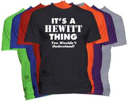 Имя t рубашки онлайн-HEWITT фамилия T-Shirt Custom Name рубашка семейное воссоединение Tee S-5XL