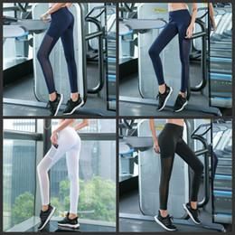 Calças de yoga de gaze on-line-Four Season cintura alta calças emenda Gauze Walking Pant mulheres dançam mantendo Corpo Yoga Outfits Moda 30jxH1