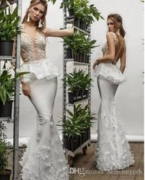 2020 nigeria weiße brautkleider Mermaid White Organza Brautkleider Nigeria Sheer Top Backless White Brautkleider rabatt nigeria weiße brautkleider