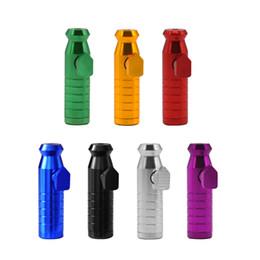 Snuff Snorter Series Bullet Rocket Lega di alluminio Snuff Snorter Sniffer Dispenser Pipa nasale Smoking Hand Pipa Pipa per tabacco in metallo cheap bullet pipes da tubi proiettili fornitori