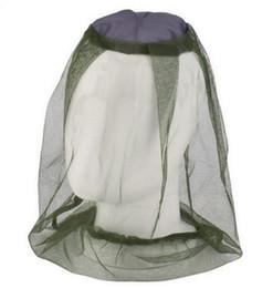 Mosquiteiros on-line-Anti-mosquito Cap Viagem Camping Hedging Leve Midge Mosquito Inseto Chapéu Bug Mesh Head Net Face Protector 2019