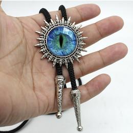 Nouvelle arrivée Dragon Eye Cowboy Bolo Cravate Dôme de verre fait main Sauron Bijoux de œil en verre Cabochon Cravate BOLO-0019 ? partir de fabricateur