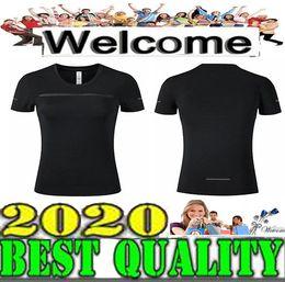 Оптовая женская с коротким рукавом белая футболка Тренировочный жилет Тренировочная одежда Бег Бег 3 цвета Размер S-XL Отправить бесплатно от