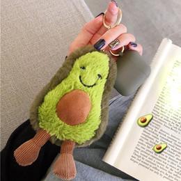 Grüne 3d fall online-Avocado 3D Kawaii Fall für AirPods 1 2 Kopfhörer weichen Lagerung Schutzhülle Netter Plüsch-Puppe-Beutel-Abdeckung Silikon-Schlüsselanhänger Green New