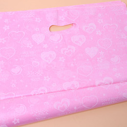 Sacchetti di regalo in plastica bianca online-Borsa piccola di plastica rosa bianca all'ingrosso della maniglia della maniglia del punto 45 * 34cm, 75pcs / lot d'acquisto che imballa i sacchetti di regalo di plastica 120191