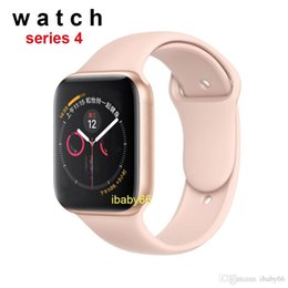 2019 telefono rosa android guardare Goophone iwatch4 44mm Smart watch serie acciaio inossidabile 4 ricarica wireless Bluetooth 4.0 frequenza cardiaca per Android iphone X XR MAX smartwatch