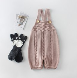 0e458731421c Baby boys sweater romper toddle kids twist knitted shorts romper baby girls  cross bind suspender jumpsuits babies climb clothing F2893 discount baby boy  ...