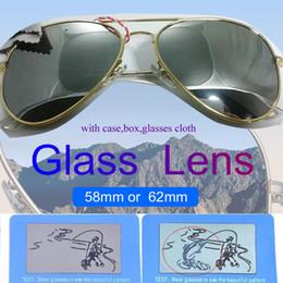2019 gafas aviador para hombre Gafas de lente de gafas de sol de aviador Ray Piloto Marca protección UV400 de la vendimia Bans para mujer para hombre Hombres Mujeres Ben gafas de sol Wayfarer de w / caja de la caja 3025 gafas aviador para hombre baratos