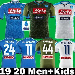 napoli jersey Rabatt 2019 2020 Napoli SSC Hirving Lozano Manolas INSIGNE HAMSIK Fußballtrikots 19 20 Naples KOULIBAL Kinder T-Shirts MERTENS Fußballtrikots