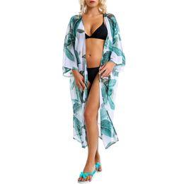 O biquini da proteção de Sun da praia do teste padrão das folhas da forma cobre acima o tipo de Luxry de Fornecedores de vestido de crochet branco longo
