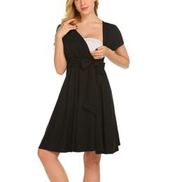 Pflegender nachtwäsche online-MUQGEW Frauen Kleid Mutterschaft Kleider Stillende Baby Nachthemd Kleidung für Schwangere Nachthemd Nachtwäsche Kleid