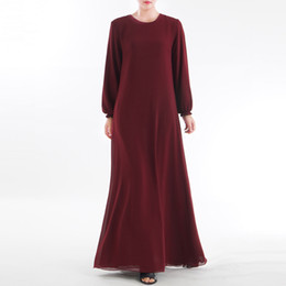 2019 Muslim Clothes S- 2XL Long Muslim Women Wear On Both Sides Dubai Abaya Maxi Dresses Islamic Clothing Lover Gift Drop #0426 от Поставщики индийские блузки