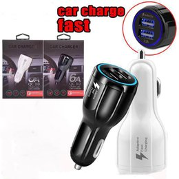Carregadores carro oem on-line-Qc 3.0 Carregadores de Parede Carregador Rápido Dual USB Car Charging 3.1A carga Rápida OEM EUA Adaptador DA UE para samsung galaxy s8 s8 além de nota 8