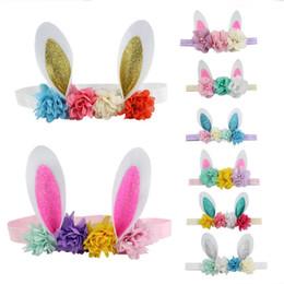 Pâques bandeaux lapin oreilles bande de cheveux accessoires pour cheveux nouveau-né stretch enfants bandeau enfants filles mignonnes guirlande parti bijoux A22101 ? partir de fabricateur