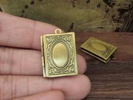 Armários oval da foto on-line-5 pcs medalhões da Bíblia, medalhões de bronze livro Quadrado, 19x26mm caixa de Foto, caixa de foto, bronze oval fase fase caixa de jóias descobertas Zf 04791
