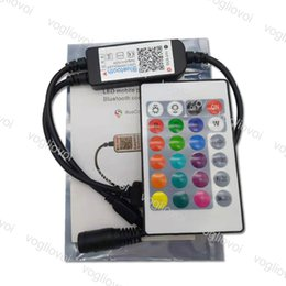 24v usb Скидка Wi-Fi Bluetooth RGB Контроллер 24key USB DC5-24V Мини Smart Light Strip Контроллер Диммер Для 5050 3528 RGB LED Лента Лента DHL