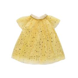 vestido de tul amarillo niña Rebajas Verano para niños Chicas Princesa Sparkling Stars Vestidos Túnica Fiesta para bebés Bebé Pageant Encaje amarillo Vestido de tul Ropa para niños