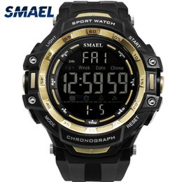 men s watch brands Promo Codes - Men Watches Digital LED Light SMAEL Watch S Shock Montre Mens Military Watches Top Brand Luxury 1350 Digital Wristwatches Sports