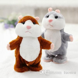 SICAK Satış Konuşan Hamster Konuşma Ses Kaydı Hamster Peluş Hayvan Çocuklar Çocuk Oyuncak Konuşan Hamster Peluş Oyuncak Noel Hediyeler tekrarlayın nereden kabuk köpek oyuncakları toptancısı tedarikçiler