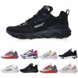 dc2ae046973b UNDERCOVER X React Element 87 Triple Black Fashion Mens Running 87 Shoes  Womens Designer Shoes Men Trainers Sail Light Bone Sneakers 36-45