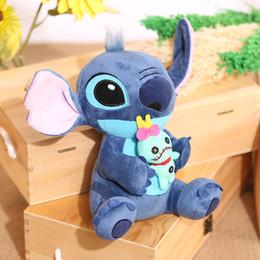 2019 bonito aniversário bebês 23 cm Gigante Stitch Plush Toys Recheado Macio Travesseiro Brinquedos Animais Do Bebê Apaziguar Boneca de Aniversário Da Menina Presentes Para O Miúdo Kawaii Bonito Almofada de Natal C21 bonito aniversário bebês barato