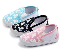 tecido padrão sapatos bebê Desconto Sapatos de bebê crânio-impressos, crianças infantis WL117