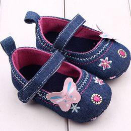2019 обувь для девочек embroidered Baby Bowknot Denim Toddler High Quality Princess First Walkers Girls Kid Shoes Toddler Shoes Baby Non-slip дешево обувь для девочек