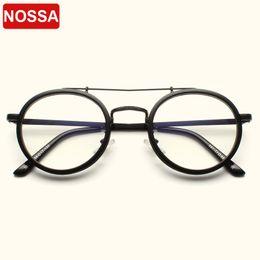 brillengestell rosa Rabatt Weinlese-runde Gläser Rahmen Damen Herren Klassische optische Brillen-freie Objektiv-Retro Brille rosa Transparent Brillen