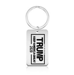 Trump 2020 Keychain Tag Keep America Great Anhänger Keychain Schlüsselanhänger Fans Souvenirs Geschenk Schlüsselanhänger Schmuck Zubehör H182 von Fabrikanten