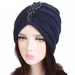 7c7aa882914c79 Women Winter Slouchy Cable Knitted Glitters Sequins Beaded Applique Hat  Pleated Ruched Striped Solid Color Baggy Beanie Cap Stre