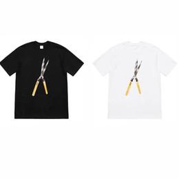 Tesouras grandes on-line-TS Shears Tee Grande Tesoura Alicates Impressão Mens Designer de Casais das Mulheres de Moda Casual Verão T-shirt Preto e Branco de Manga Curta TSYSTX056