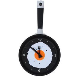 Parete orologio digitale appesa online-Creative Pan Orologio da parete Cucina Soggiorno Orologio da parete Nuovo stile decorativo per la casa Orologi digitali