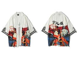 Ukiyo imprimió chaquetas de punto kimono chaquetas 2019 otoño para hombre Harajuku Japón estilo informal chaqueta de abrigo abrigos desde fabricantes