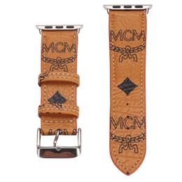 Pulseras de marca china online-reloj de diseño de banda de 38 mm 42 mm 40 mm 44 mm moda inteligente correas de pulsera de cuero de la marca del reloj de bandas Bandas inteligente de la pulsera