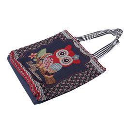 Симпатичные многоразовые торговые столы онлайн-Bolsa Feminina Shopping Bag Cute Animal Owl Shape Vintage Canvas Shopping Bags Eco Friendly Foldable Reusable Tote Shoulder Bag
