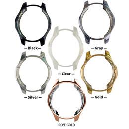 Cubierta de la caja de engranajes online-Estuche para Samsung Gear S3 frontier Galaxy Watch 46mm Suave TPU Cubierta protectora de parachoques protectora para todo cuerpo Funda Bordes del marco alrededor