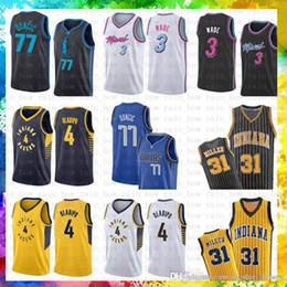 cdb7dfc442a Miami Jersey Heat Dwyane 3 Wade Dallas Jersey Mavericks Luka 77 Doncic  Kristaps 6 Porzingis Indiana   Pacers Victor 4 Oladipo Reggie 31 Mill  discount ...
